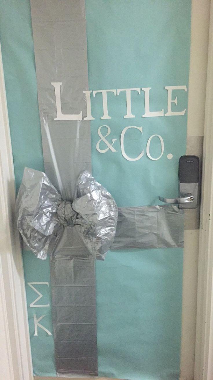 Big Little Door Decoration Door Dec Door Sign Tiffany Little Surprise Bow Mint Blue Sigma Kappa Little & Co