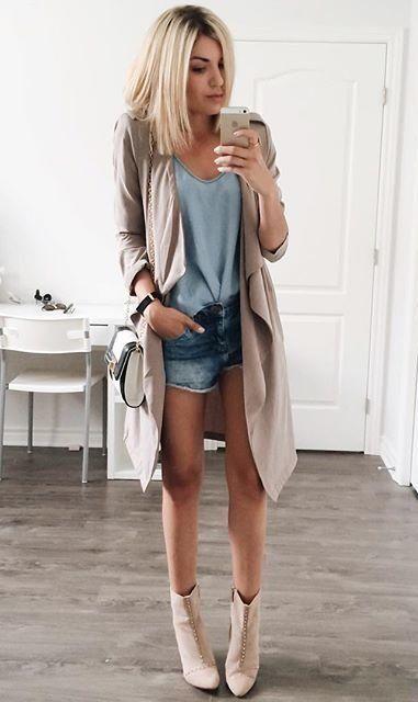 blazer coat + booties #f21
