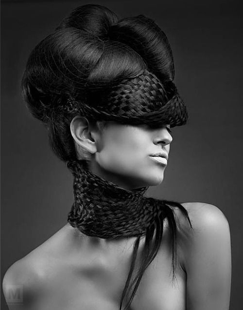 weaving in hair and how it wraps around neck