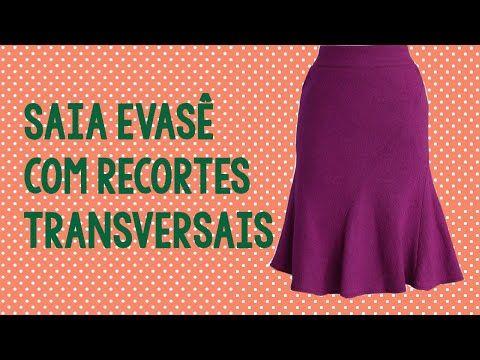 Modelagem da saia evasê com recortes transversais #modelagem002 - YouTube