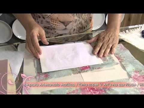 Artesanato: decupagem em prato com tema oriental - YouTube