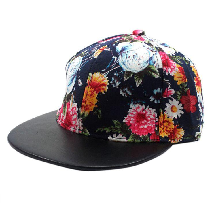 Baseball Cap Women 2017 New Designed womens hats and caps Flower Hip-Hop Baseball Cap Outdoors Flat  Gorra Plana #00 #Affiliate