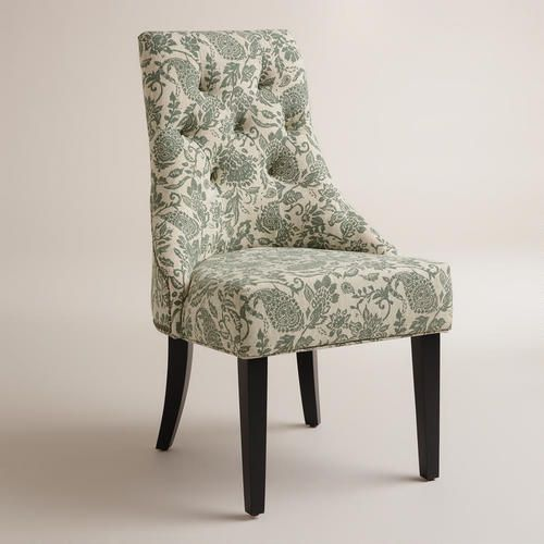 Paisley Chair In Farmhouse Dining Room