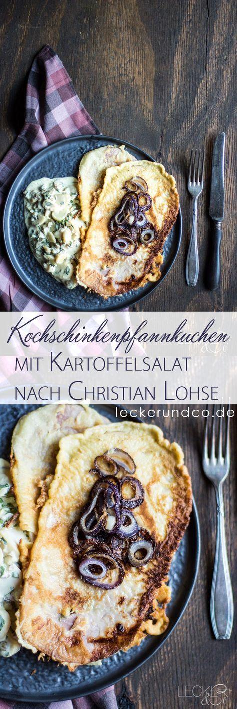 Kochschinkenpfannkuchen mit Kartoffelsalat nach Christian Lohse aus der Kitchen Impossible Weihnachtsedition