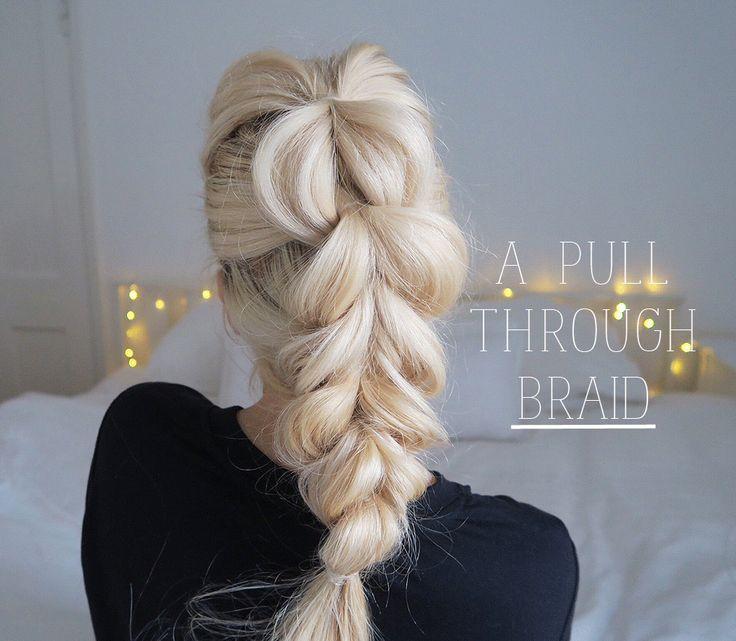 Hair Tutorial | Pull-through chunky braid/plait