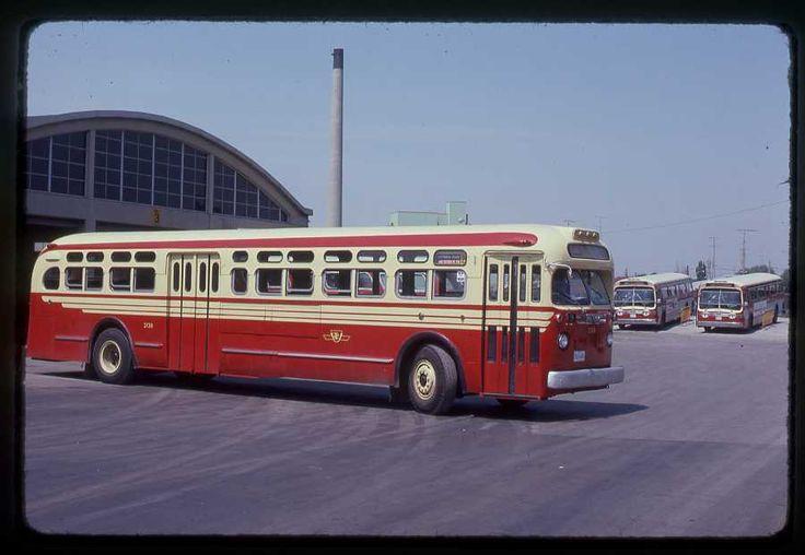 TTC Toronto original bus slide # 2138 Birchmont Garage taken 1974