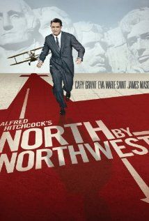 North by Northwest:  A hapless New York advertising executive is mistaken for a government agent by a group of foreign spies, and is pursued across the country while he looks for a way to survive.  (1959)