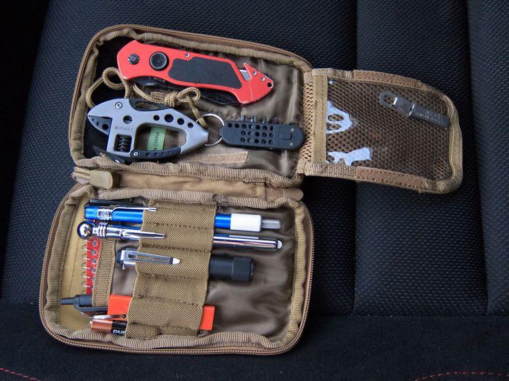 Condor pouch used as a car glovebox organizer