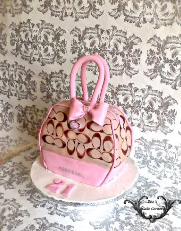 Coach Themed hand bag cake