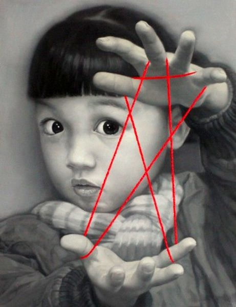 Stars in the Hands of Youth Pointing.  (Photo art by: Zhu Yi Yong)