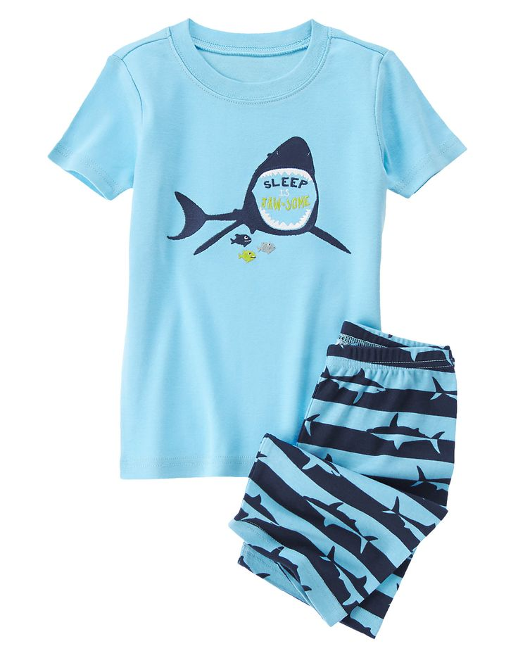 Sleep Is Jaw-Some Shortie Two-Piece Gymmies® at Gymboree (Gymboree 4-10y)