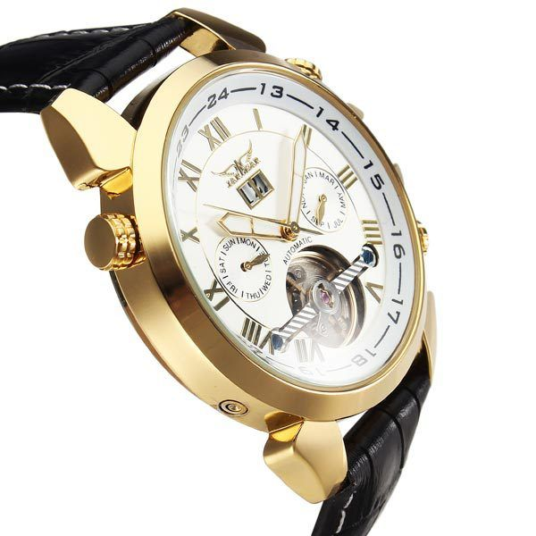 JARAGAR Automatic Mechanical Luxury Flywheel Men Wrist Watch-in Mechanical Watches from Watches on Aliexpress.com   Alibaba Group