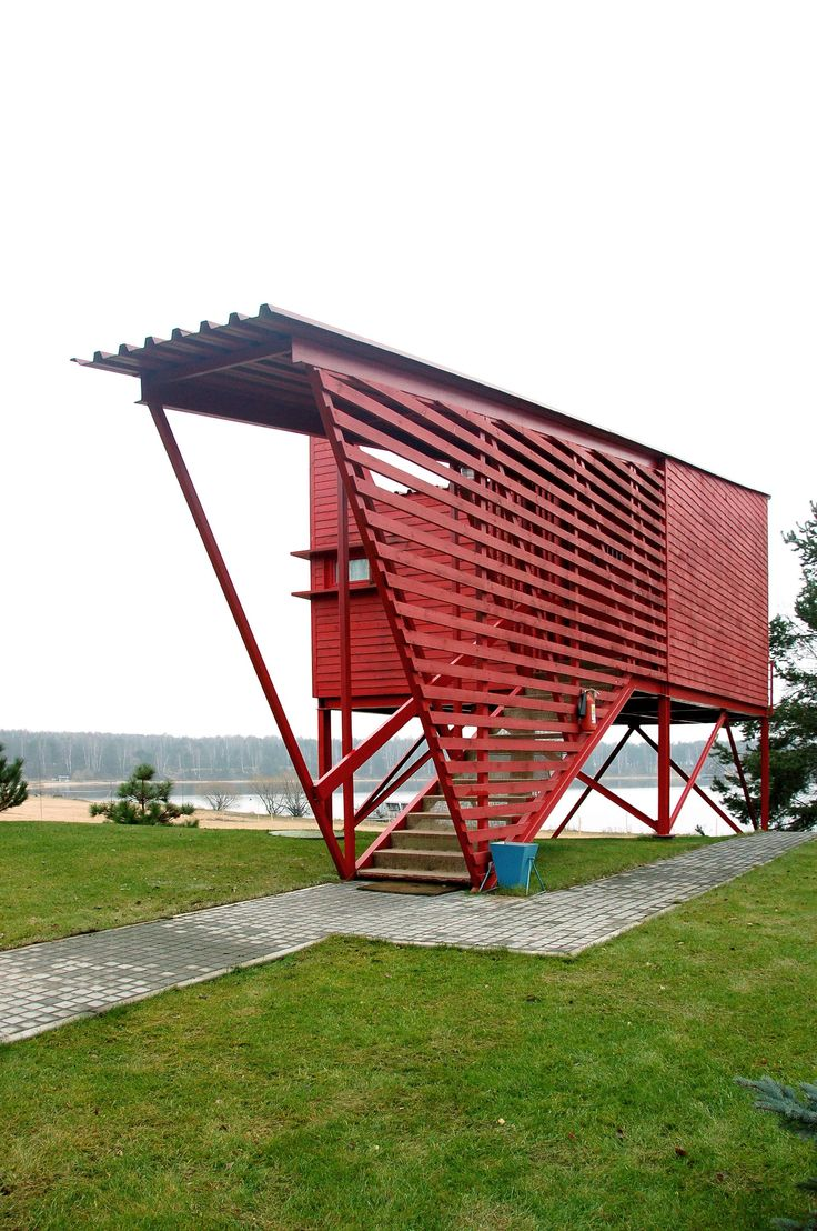 Red guesthouses by Totan Kuzembaev