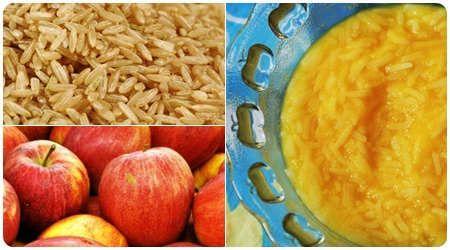 Ryż brązowy z jabłkiem po 9 miesiącu. więcej na http://www.osesek.pl