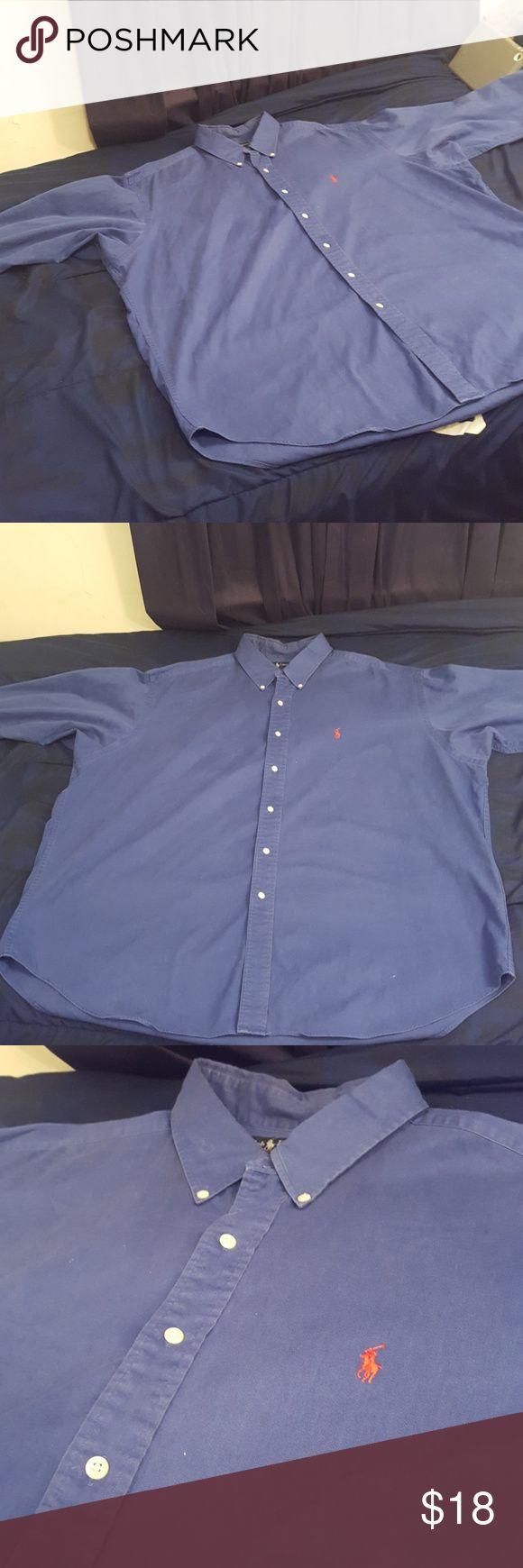 Ralph Lauren Button down shirt This is a nice navy blue button down polo dress shirt. Size XXl Ralph Lauren Shirts Dress Shirts