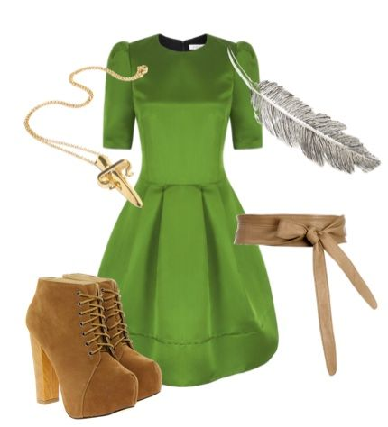 Peter Pan disney-movie inspired outfit for the real world....Love this except the shoes.