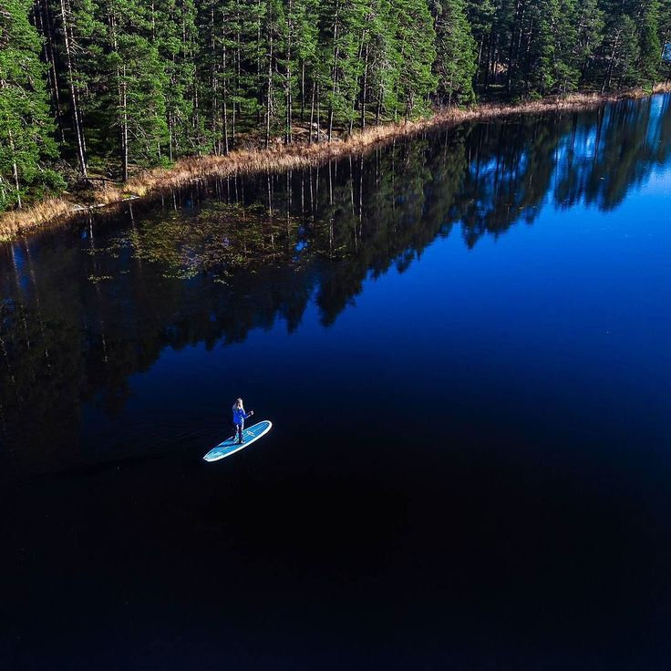 Blackwater stand up paddle - Tiveden Sweden