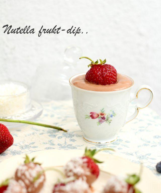 Nutella Frukt-dip