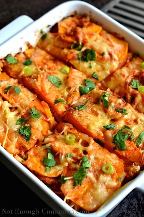 Mexican Sweet Potato Gratin with Chicken - NotEnoughCinnamon.com
