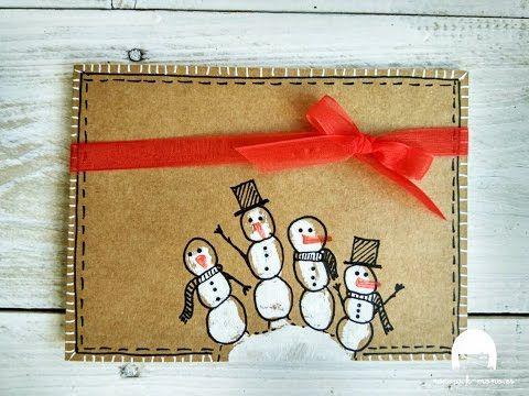 DIY Tarjetas navideñas con niños - Christmas Cards with kids