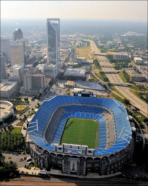 Bank of America Stadium, home to the NFL Carolina Panthers.