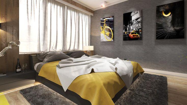 minimalist gray bedroom design