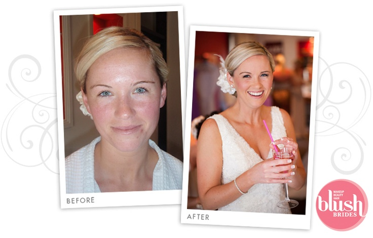 Bride - Before and After Bridal Makeup