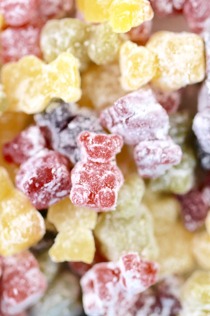 Homemade Sour Gummy Bears made with Fresh Fruit and Natural Sugars. Just 4 ingredients and a great treat for your family