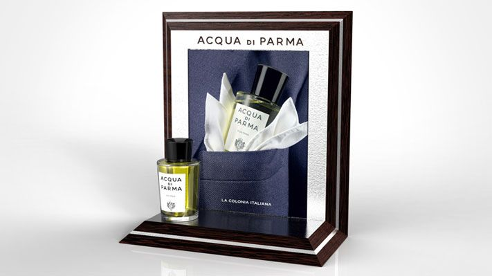 perfume luxury man suit pocket elegant handkerchief italy pañuelo Colonia Acqua Di Parma POS Sotano Studio