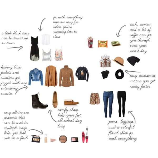 """""""college essentials"""" by makingforts on Polyvore"""