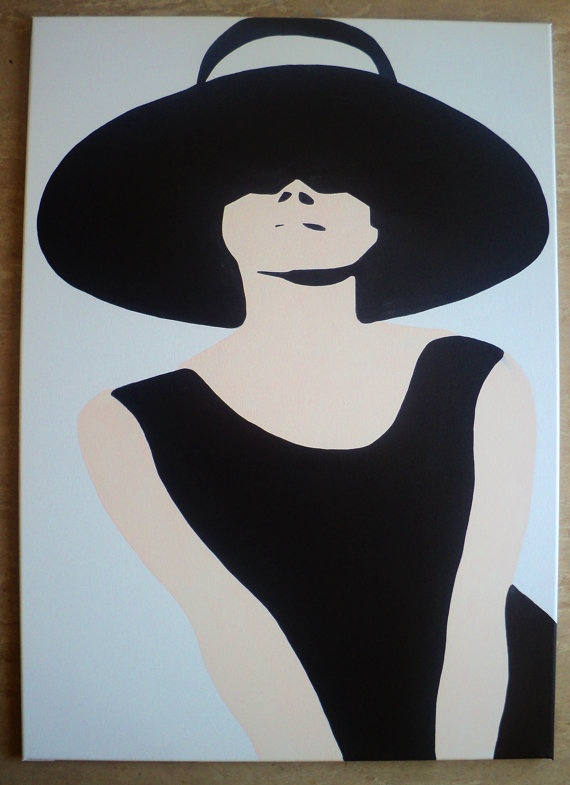 Audrey Hepburn Pop Art Canvas Painting XL