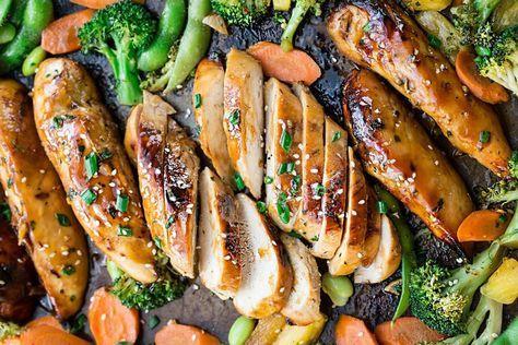 C'est une recette super facile qui se fait sur une plaque à cuisson et qui demande très peu de travail. La sauce est FABULEUSE!