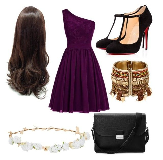 """red carpet"" by cosmina-styles-alina on Polyvore featuring Christian Louboutin, Robert Rose and Aspinal of London"