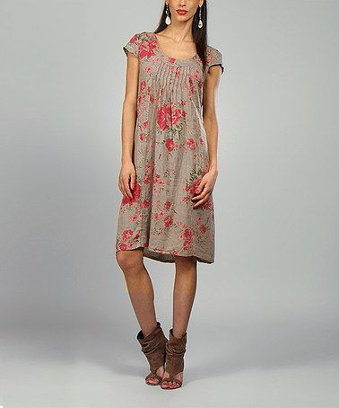 Look what I found on #zulily! Mole & Fuchsia Anna Linen Shift Dress #zulilyfinds