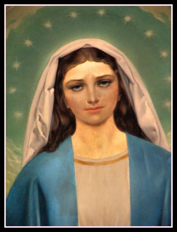 Madonna Immacolata - Chiesa Sacro Volto - Milano Isola -dipinto  olio su tela di Rino Ferrari (1964)