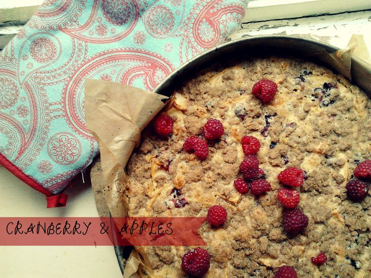 EASY, FAST CAKE WITH APPLES & CRANBERRY. CHECK ON www.gotowanietokochanie.blogspot.com