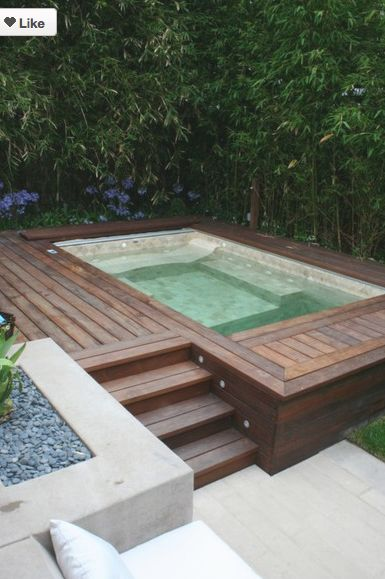 decking swimming pool garden