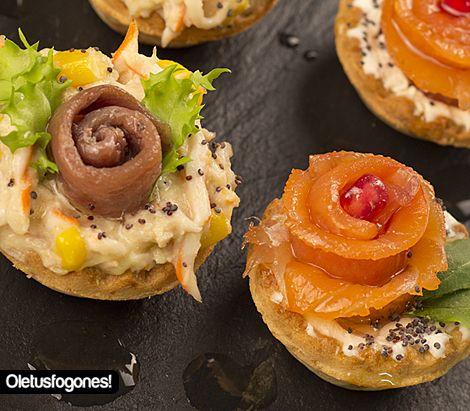 Canap s navide os ole tus fogones blog tes and 4 for Canape de caviar