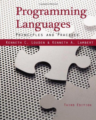I'm selling Programming Languages: Principles and Practices by Kenneth C. Louden and Lambert - $15.00 #onselz