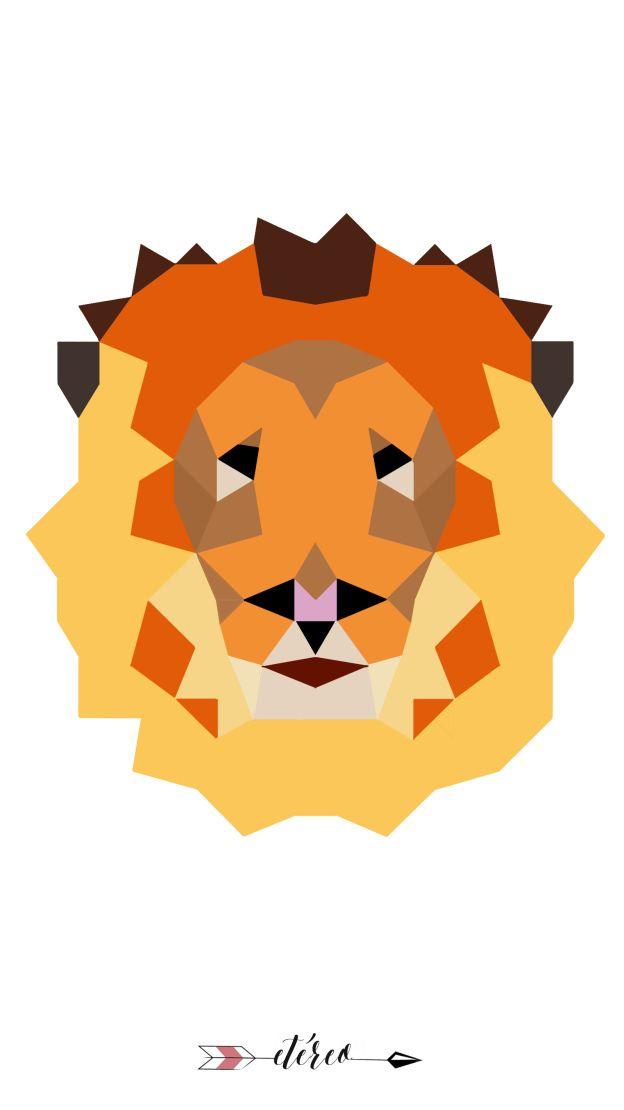 #lion #print #wallpaper