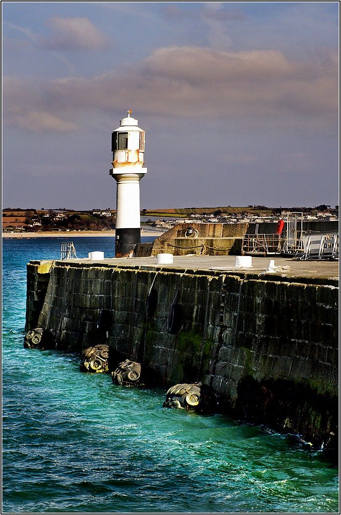 Penzance Lighthouse in Cornwall, England. Go to www.YourTravelVideos.com or just click on photo for home videos and much more on sites like this.