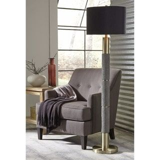 Shop For Signature Design By Ashley Jacek Gray Finish Poly Floor Lamp Get Free Shipping