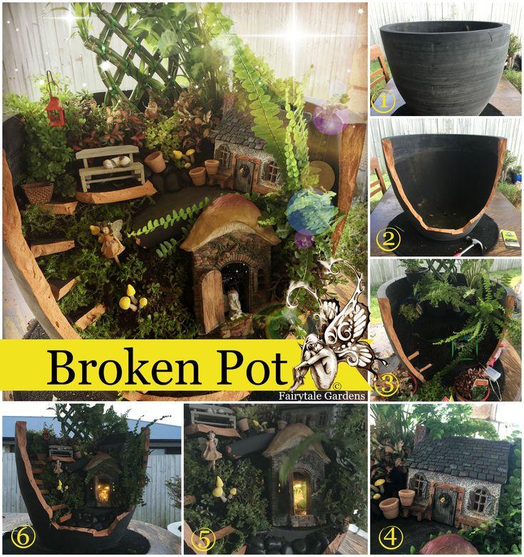 Incredible Broken Pot Ideas Recycle Your Garden: Broken Pot (Fairytale Gardens: Latest News)