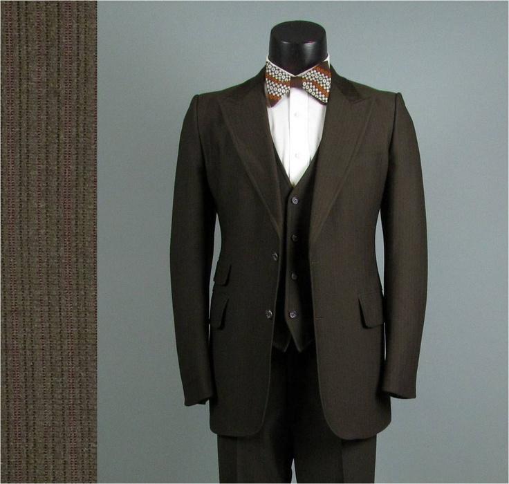Vintage Men's Suits 1940S | Vintage Mens Suit 1970s Chocolate Brown AMERICAN MOD Hipster Disco 3 ...
