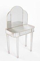 Mirror Vanity Table. Sleek vanity with curve lines.