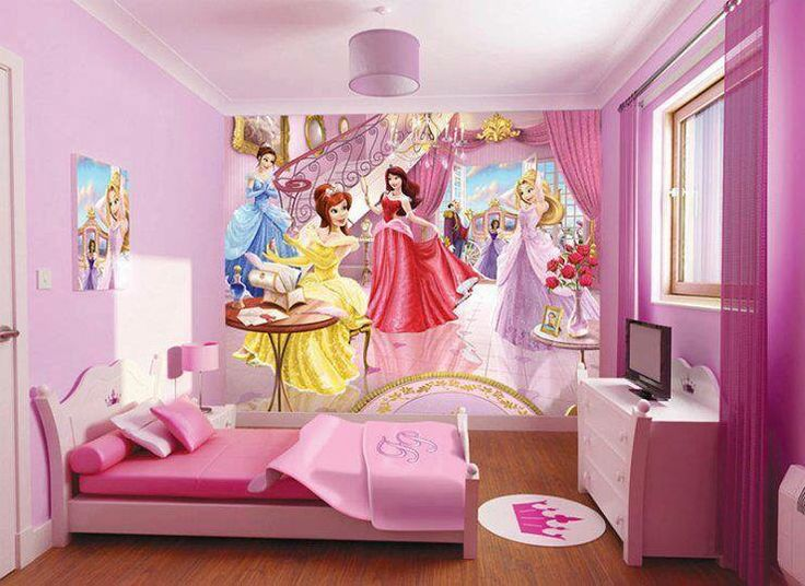 the wallpaper features replica disney fairy princesses in a cinderellas castle a lovely addition to a little girls bedroom makes a great