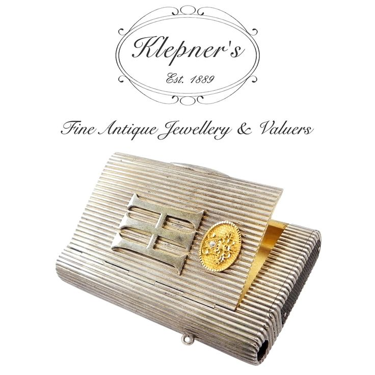 Fabergé Master Class - The extraordinary piece illustrated is an absolutely striking, antique Fabergé cigarette case, which has been brought to us for verification. What makes this piece so special, apart from its impressive provenance and that it was crafted by the world famous workshop of Fabergé, is the slot running the length of it side...  Visit us at www.klepners.com.au