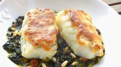 Les receptes que m'agraden: Bacalao confitado con muselina suave de ajo  -  Ba...