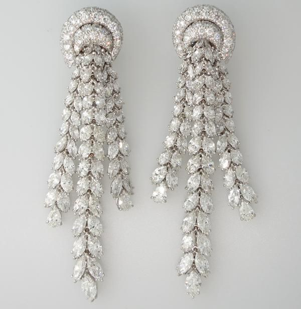 Harry Winston Ruby Earrings Webb chandelier earrings