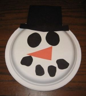 paper plate turkey craft | Craft Ideas Construction Paper on Preschool Art Snowman Paper Plate ...